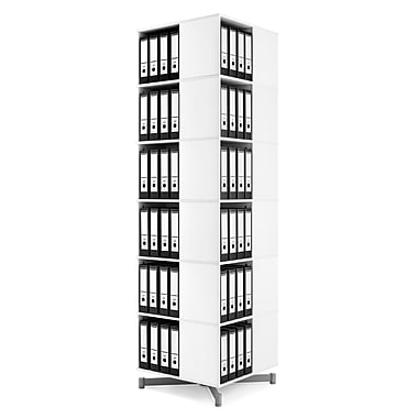 Moll® Cube Binder & File Carousel Shelving, Six Tier (CUBE6)