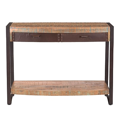 Yosemite Home Decor Mango Metal Accent Table, Mahogany, Each (YFUR-SBA5247)