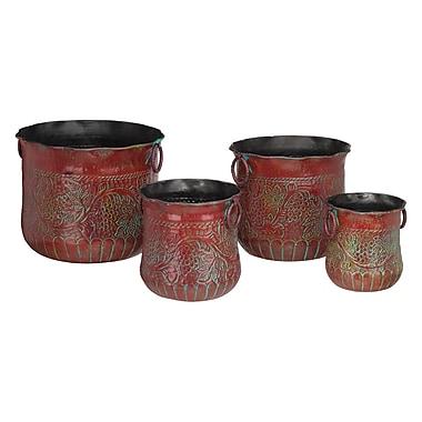 Regal Art & Gift 4 Piece Cast Iron Pot Planter Set