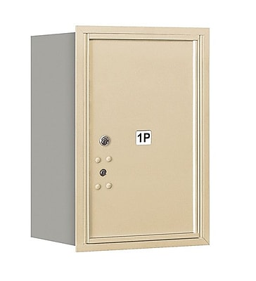 Salsbury Industries Aluminum 1 Unit Parcel Locker; Sandstone