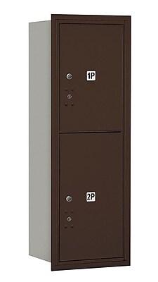 Salsbury Industries Aluminum 2 Unit Parcel Locker; Bronze