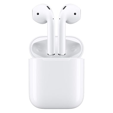 Apple – Écouteurs Bluetooth intra-auriculaires AirPods, blanc (MMEF2C/A)