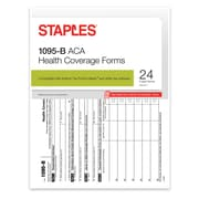 Staples® 2016 ACA 1095-B Health Coverage Forms, Inkjet/Laser, 24/PK