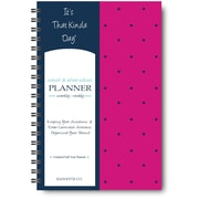 "It's That Kinda Day®School & After School Planner, Undated, Monthly/Weekly, 12 Months, 9"" x 6"", Pink Polka Dots (ITKSPPD)"