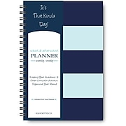 "It's That Kinda Day®School & After School Planner , Undated, Monthly/Weekly, 12 Months, 9"" x 6"", Teal Stripe (ITKSTS)"