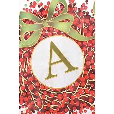Evergreen Enterprises, Inc Holiday Monogram 2-Sided Garden Flag; A