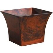 Craftware Zinc Pot Planter; Light Wood Copper