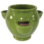 Craftware Ceramic Pot Planter; Jade Green