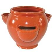 Craftware Ceramic Pot Planter; Orange