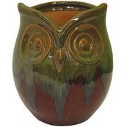 Craftware Owl Ceramic Pot Planter; Red Fusion