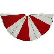 The Holiday Aisle Peppermint Twist Sequined Stripes Christmas Tree Skirt
