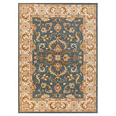 Astoria Grand Mckelvey Handmade Blue Area Rug; Round 6'