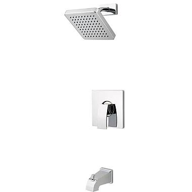 Pfister Kenzo Single Handle Tub and Shower Trim; Polished Chrome