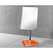 Gedy by Nameeks Rainbow Pedestal 2.5X Magnifying Rectangle Mirror; Orange