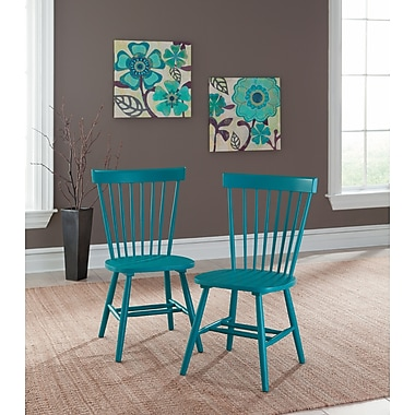 Sauder – Chaise à dossier pivotante Cottage Road, bleu, 2/ensemble