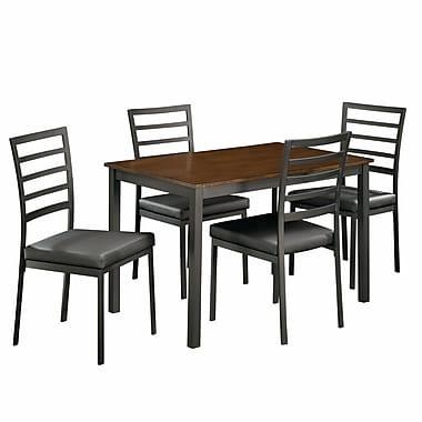 Sauder – Ensemble de salle à manger 5 pièces Shoal Creek Imp, dessus en bois, matériaux mixtes