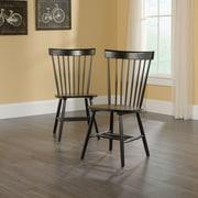 Sauder – Chaises à dossier arrondi avec barreaux New Grange Cottage, noir, 2/ensemble