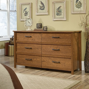 Sauder Cannery Bridge 6 Drawer Dresser, Milled Cherry