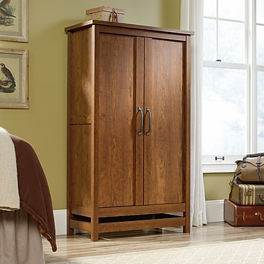 Sauder Cannery Bridge Storage Cabinet Milled Cherry