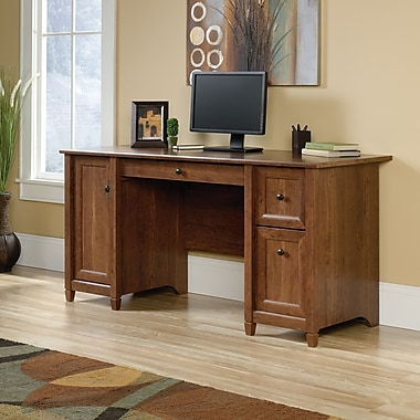 Sauder Edge Water Computer Desk, Auburn Cherry