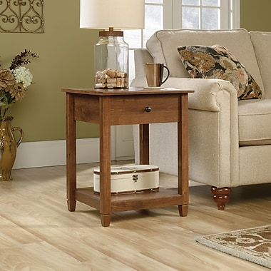 Sauder Edge Water Side Table, Auburn Cherry
