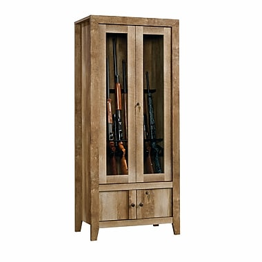 Sauder Dakota Pass Gun Cabinet, Craftsman Oak
