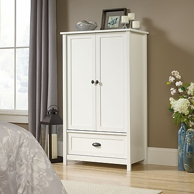 Sauder County Line Armoire Soft, White