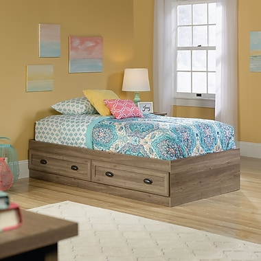 Sauder County Line Twin Platform Bed, Salt Oak