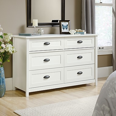 Sauder – Commode County Line, blanc doux