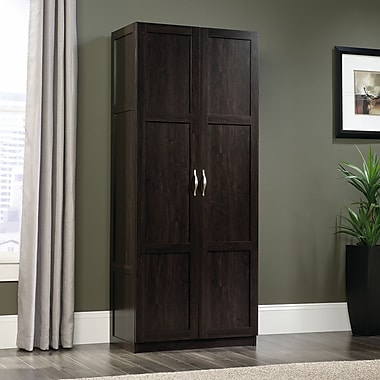 Sauder Storage Cabinet 16 Deep Dark Wood Finish