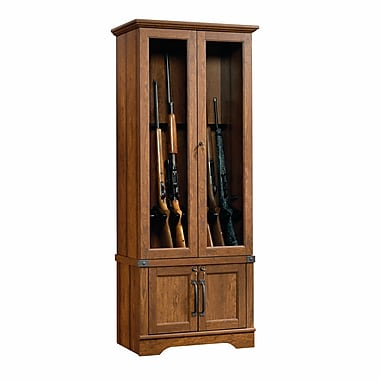 Sauder – Armoire à fusil Carson Forge, cerisier Washington