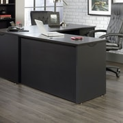 Sauder Via Desk Return Bourbon, Oak/Soft Black