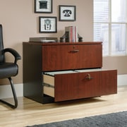 Sauder Via Lateral File Classic, Cherry/Soft Black