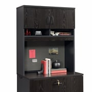 Sauder Via Lateral File Hutch Bourbon, Oak/Soft Black