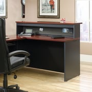 Sauder Via Reception Hutch Classic, Cherry/Soft Black