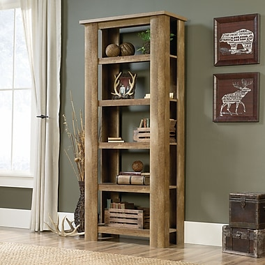 Sauder Boone Mountain 5 Bookcase, Craftsman Oak