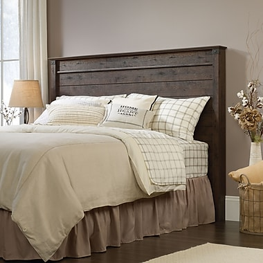 Sauder Carson Forge Full/Queen Panel Headboard, Coffee Oak