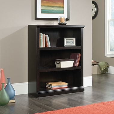 Sauder 3 Shelf Bookcase, Estate Black