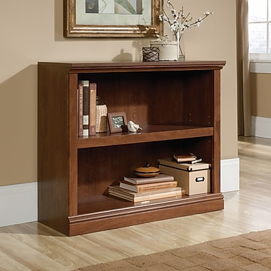 Sauder 2 Shelf Bookcase, Oiled Oak