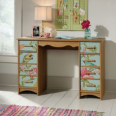 Sauder Eden Rue Desk, Scribed Oak