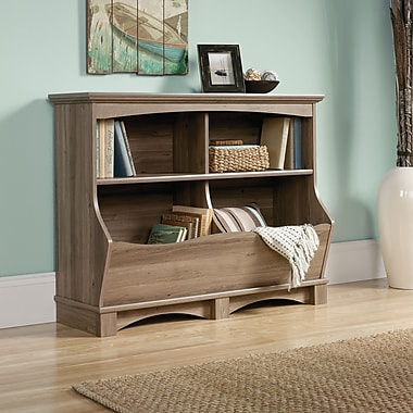 Sauder Harbor View Bin Bookcase, Salt Oak