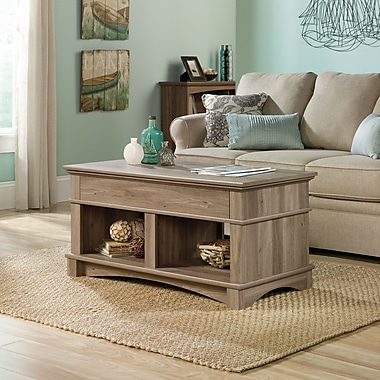 Sauder Harbor View Lift-Top Coffee Table, Salt Oak