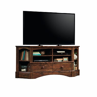 Sauder Harbor View Corner Entertainment Credenza, Curado Cherry