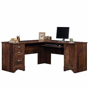 Sauder Harbor View Corner Computer Desk, Curado Cherry