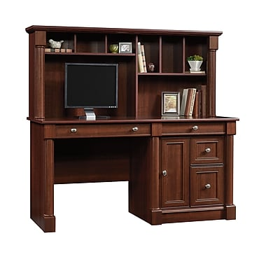 Sauder Palladia Computer Desk & Hutch, Select Cherry
