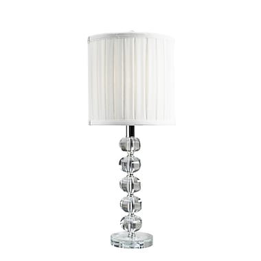 Brassex – Lampe de table Crystal 16401, 10 x 10 x 24, 24 po, blanc