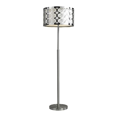 Brassex 16411 60'' Metal Floor Lamp, 18 x 18 x 59.5, Silver