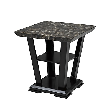 Brassex – Table de bout Charlotte 7176-06, 23 x 23 x 24, espresso
