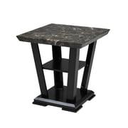 Brassex 7176-06 Charlotte End Table, 23 x 23 x 24, Espresso