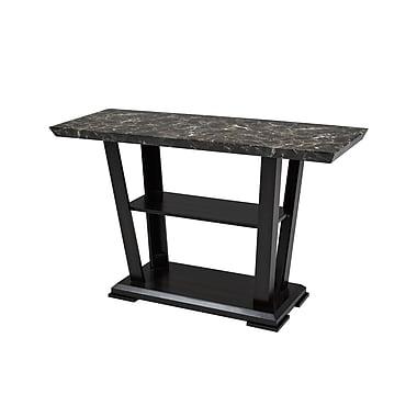 Brassex – Table de canapé Charlotte 7176-02, 48 x 18 x 30, espresso